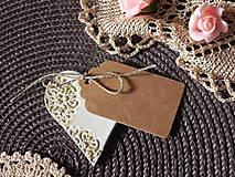 Darčeky pre svadobčanov - Svadobné magnetky s menovkami - púdrový dotyk ranného slniečka:-) - 7785413_