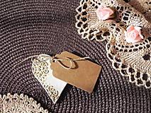 Darčeky pre svadobčanov - Svadobné magnetky s menovkami - púdrový dotyk ranného slniečka:-) - 7785416_
