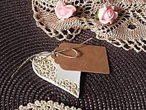 Darčeky pre svadobčanov - Svadobné magnetky s menovkami - púdrový dotyk ranného slniečka:-) - 7785421_