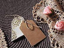 Darčeky pre svadobčanov - Svadobné magnetky s menovkami - púdrový dotyk ranného slniečka:-) - 7785423_