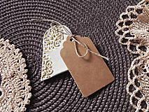 Darčeky pre svadobčanov - Svadobné magnetky s menovkami - púdrový dotyk ranného slniečka:-) - 7785436_