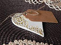 Darčeky pre svadobčanov - Svadobné magnetky s menovkami - púdrový dotyk ranného slniečka:-) - 7785444_
