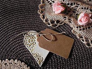 Darčeky pre svadobčanov - Svadobné magnetky s menovkami - púdrový dotyk ranného slniečka:-) - 7785412_