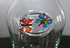 Nádoby - KARAFA s motýly...již se těším na léto - 7786226_