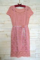 Šaty - Háčkované šaty - 7785316_