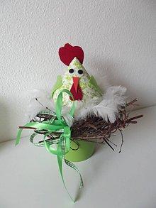 Dekorácie - hniezdo zelené I - 7788045_