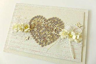 Papiernictvo - pohľadnica svadobná - 7784632_