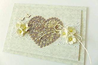 Papiernictvo - pohľadnica svadobná - 7784647_