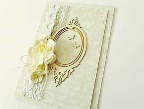 Papiernictvo - pohľadnica svadobná - 7784783_