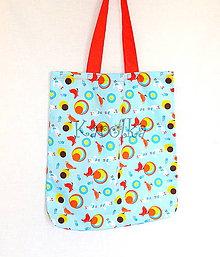 Nákupné tašky - Nákupná taška - Vtáčí úlet v modrom ZĽAVA z 11,50 na 8,90€ - 7785862_