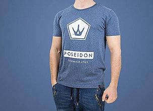 Oblečenie - Pánske tričko POSEIDON (organická bavlna) - 7784792_