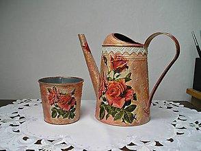 Nádoby - Ružičkové duo v zlatistej pavučinke :) - 7786347_