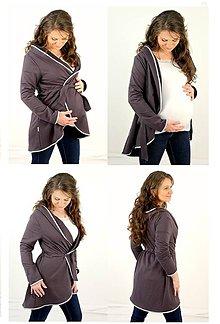 Tehotenské/Na dojčenie - TEPLÝ TĚHOTENSKÝ KABÁTIK - veľ. XS - M, rozne farby - 7783725_