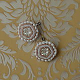 Náušnice - Wedding flowers- vyšívané náušnice - 7787673_