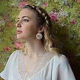 Náušnice - Wedding flowers n.2- vyšívané náušnice - 7787708_