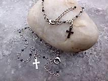 - sada ruženčekov na ruku - oceľ + Obsidián - na želanie pre E - 7784954_