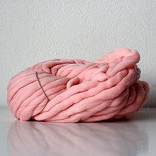 Galantéria - Superhrubá pletacia priadza Broskyňovo ružová vlna 250g - 7784941_