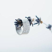 Prstene - prsteň / obrúčka s odtlačkom prsta - 7788441_