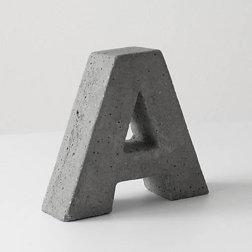 """Držiak kníh z betónu """"A"""""""