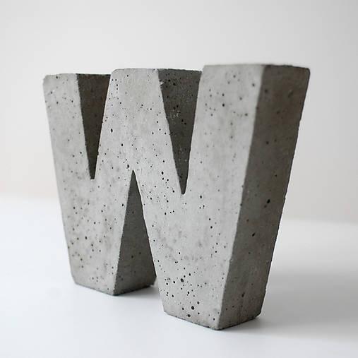 "Držiak kníh z betónu ""W"""