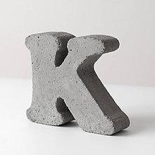 """Dekorácie - Držiak kníh z betónu """"K"""" - 7786348_"""