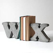 """Dekorácie - Držiak kníh z betónu """"W""""  - 7786401_"""