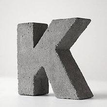 """Dekorácie - Držiak kníh z betónu """"K"""" - 7786753_"""
