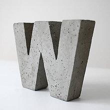 """Dekorácie - Držiak kníh z betónu """"W"""" - 7786772_"""