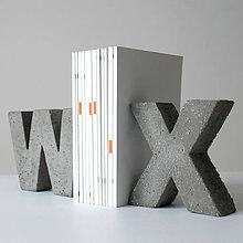 """Dekorácie - Držiak kníh z betónu """"X"""" - 7786781_"""