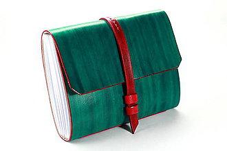 Papiernictvo - Kožený zápisník KANA A5 - 7787455_