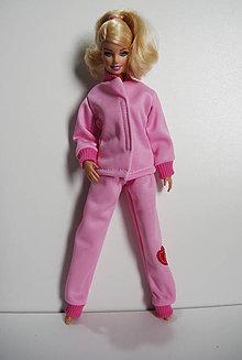 Hračky - Ružová tepláková súprava pre Barbie - 7787809  9ce85632df3
