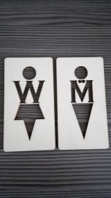 Tabuľky - Piktogram WC muži - ženy 3a - 7788222_