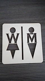 Tabuľky - Piktogram WC muži - ženy 2 - 7788252_