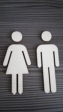 Tabuľky - Piktogram WC muži - ženy 1 - 7788211_