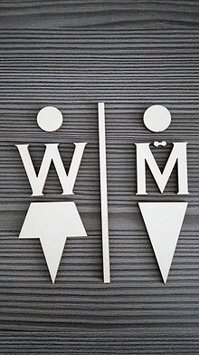 Tabuľky - Piktogram WC muži - ženy 3 - 7788237_