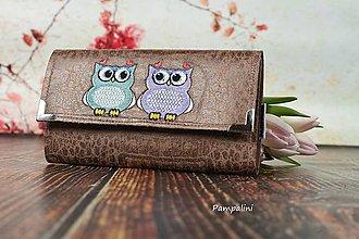 Peňaženky - S koženým efektem - Sovičky - 7783976_