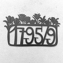 Tabuľky - Kovová tabuľka na dom / tulipánová - 7783650_