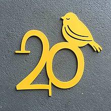 Tabuľky - *Kovové číslo na dom / bez rámu / s vtáčikom - 7783654_