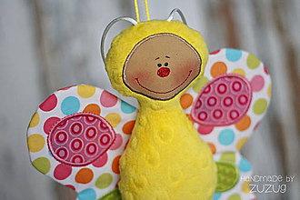 Hračky - Šuštiaci motýlik z minky - 7787192_