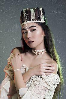 Sady šperkov - Bohémsky set - indiánka a mušličkový choker - 7786557_