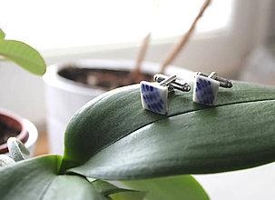 Šperky - manžetové Modré - 7785954_