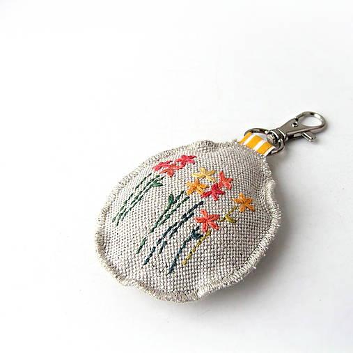 4097e7d03 Prívesok na kľúče Žlté kvety / ololo - SAShE.sk - Handmade Kľúčenky