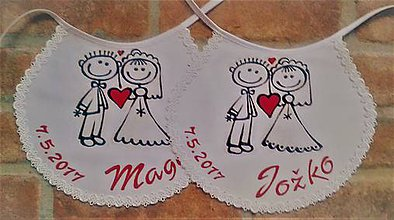 Nezaradené - svadobné podbradničky - 7788478_