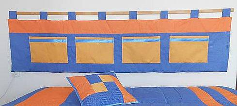 Úžitkový textil - Zástene Blue-Orange - 7791962_