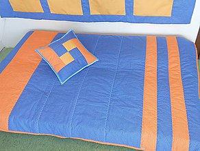Úžitkový textil - Prehoz Blue-Orange - 7792074_