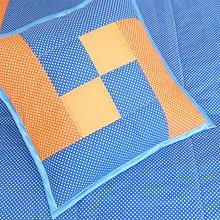 Úžitkový textil - Návliečka Blue-Orange /40x40 - 7792241_