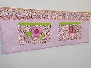 Úžitkový textil - Zástena Ružová 100x50 - 7792251_