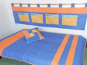 Úžitkový textil - Komplet Blue-Orange - 7792296_