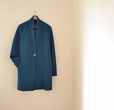 Kabáty - boyfriend coat petrolejový - 7790335_
