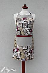 Detské oblečenie - zásterka chlapčenská Bordeaux - 7790518_